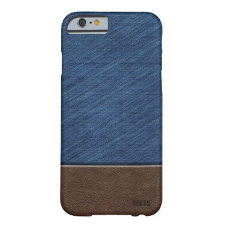 "iPhone 6/6S Case ""Denim and Leather"" Heevs™"