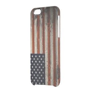 iPhone 6/6s Case with American Wood Flag Print