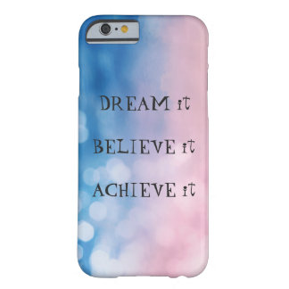 iPhone 6/6s case with colourful bokeh and text