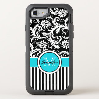 iPhone 6/6s | Monogram, Aqua, Black, White OtterBox Defender iPhone 7 Case