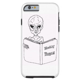 Iphone 6/6s phone case Alien reading Bible