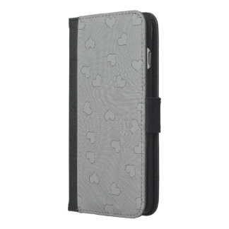 iPhone 6/6s Plus Wallet Case SILVER MINI HEARTS