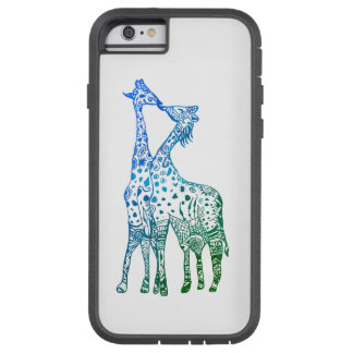 iPhone 6/6s, Tough Xtreme Blue Green Giraffes Tough Xtreme iPhone 6 Case
