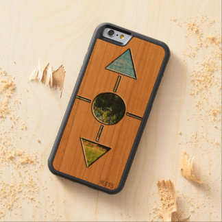 """iPhone 6/6S Wood Case """"Shapes"""" Heevs™"""