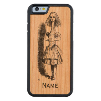 iPhone 6 Alice Neck Name wooden Carved® Cherry iPhone 6 Bumper