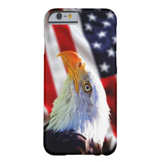 Iphone 6 case - Bald eagle on american flag Barely There iPhone 6 Case