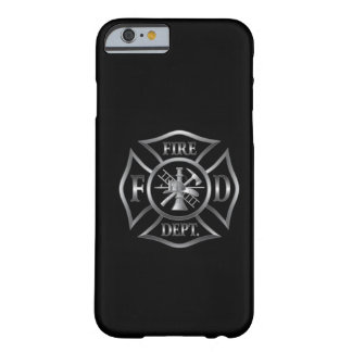 iPhone 6 case black/silver fire department symbol Barely There iPhone 6 Case