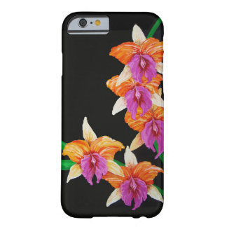 iPhone 6 Case Colorful Orchids on Black