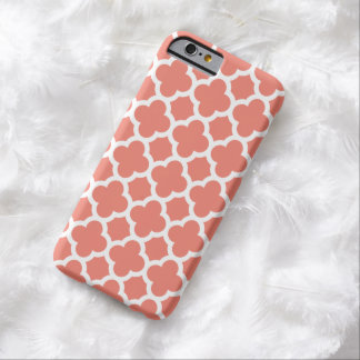 iPhone 6 Case - Coral Quatrefoil