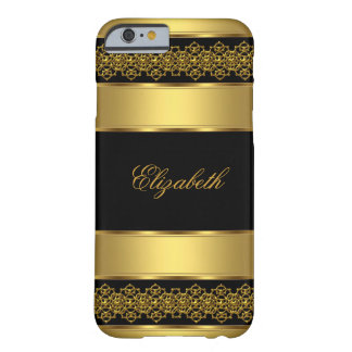 iPhone 6 case Elegant Classy Gold Black Barely There iPhone 6 Case