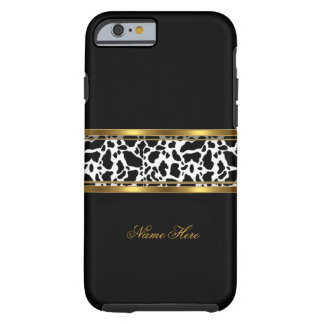 iPhone 6 case Elegant Classy Gold Black White Cow Tough iPhone 6 Case