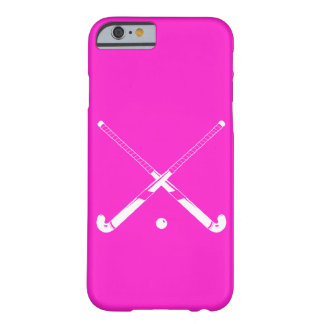 iPhone 6 case Field Hockey Silhouette Pink Barely There iPhone 6 Case