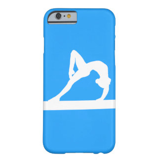iPhone 6 case Gymnast Silhouette White on Blue Barely There iPhone 6 Case