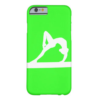 iPhone 6 case Gymnast Silhouette White on Green Barely There iPhone 6 Case