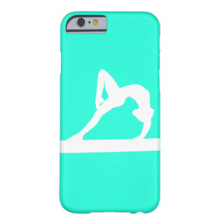 iPhone 6 case Gymnast Silhouette White on Turquois Barely There iPhone 6 Case
