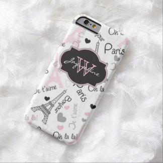 iPhone 6 Case | Paris | Eiffel Tower | Hearts