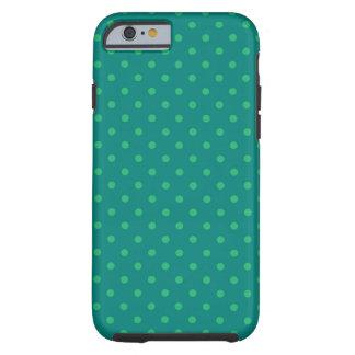 iPhone 6 case Shell Hot Green Polka Dot