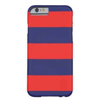 iPhone 6 Case Striped Navy Blue & Red