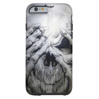 iPhone 6 case tough - Peek-a-BOO Skull