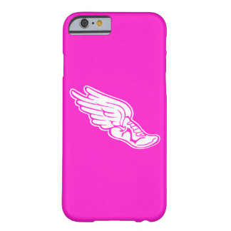 iPhone 6 case Track Logo White on Pink Barely There iPhone 6 Case