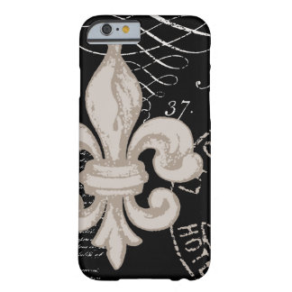 iPhone 6 case-Vintage Fleur de Lis Barely There iPhone 6 Case