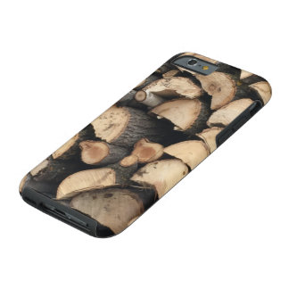 iPhone 6 case wood pile Tough iPhone 6 Case