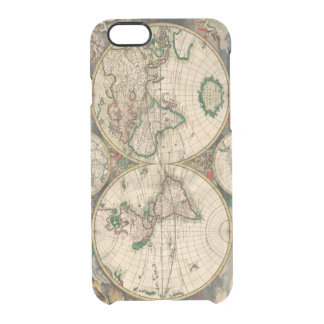 iPhone 6 Clearly Deflector Case Vintage World Map