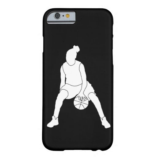 iPhone 6 Dribble Silhouette White/Black iPhone 6 Case
