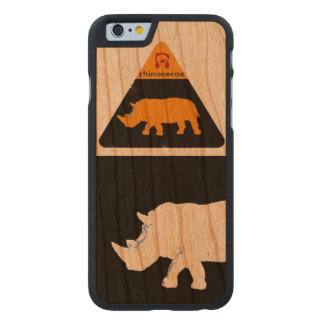 iPhone 6 of rhinoceros cool & modern Carved Cherry iPhone 6 Case