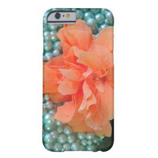 iPhone 6 Orange Hibiscus on Beads Barely There iPhone 6 Case