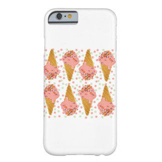 Iphone 6 Phone Case, Ice Cream Cone Polka Dots Barely There iPhone 6 Case