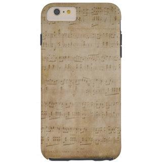 iPhone 6 Plus - Case - Antique Music Paper