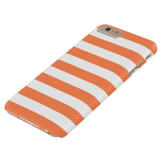iPhone 6 Plus Case - Nectarine Orange Bold Stripes