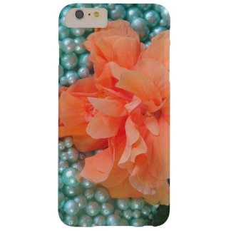 iPhone 6 Plus Orange Hibiscus on Beads Barely There iPhone 6 Plus Case