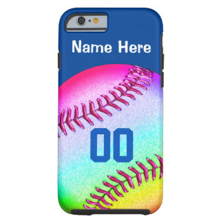 iPhone 6 Softball Cases Your NAME, NUMBER, COLORS