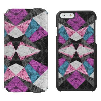 iPhone 6 Wallet Case Marble Geometric G438 Incipio Watson™ iPhone 6 Wallet Case