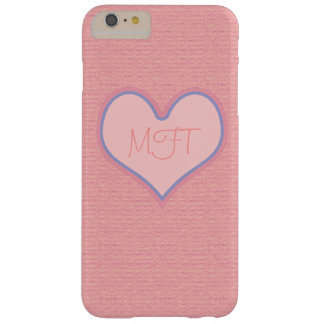 iPhone 6 with a pink heart personalized Barely There iPhone 6 Plus Case
