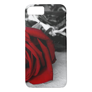 iPhone 7/6Plus, iPad/Air/Mini Case Red Rose B/W