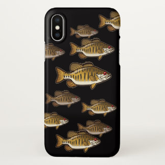 iPhone 7, 8 and X Bass Fishing Smallmouth Case