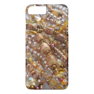 iPhone 7+, Barely There Case- Earthtone Bead Print iPhone 7 Plus Case