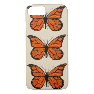 iPhone 7 Barely There Case w/Monarch Butterflies