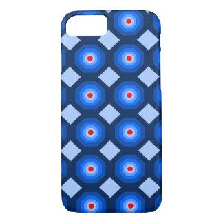 iPhone 7 Blue Octagon Designer Case