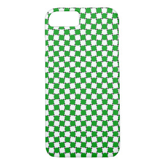 iPhone 7 case - Optical Illusion Case Green/White
