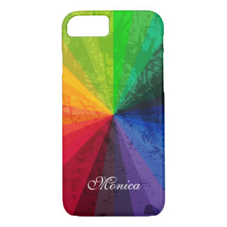 iPhone 7 Case | Rainbow Stripes | Personalized