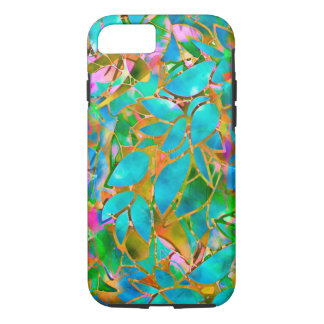 iPhone 7 Case Tough Floral Abstract Stained Glass