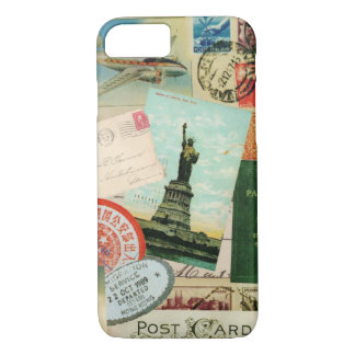 iPhone 7 case-Vintage Travel and Stamps iPhone 7 Case