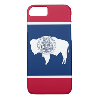 iPhone 7 case with Flag of Wyoming
