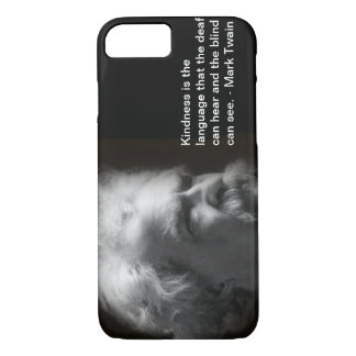 iPhone 7 case with Mark Twain image and quote
