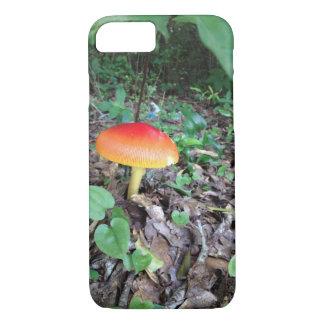iPhone 7 case with orange mushroom