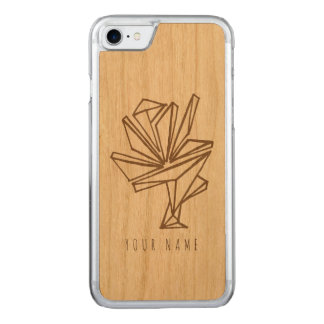 iPhone 7 case wood and abstract flower